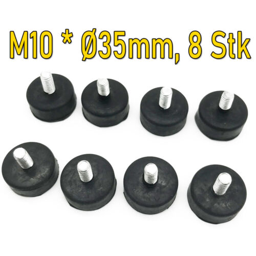 8er Set Gummipuffer Maschinenfuss Silent Block Bloc Maschinenfuss M6// M8// M10