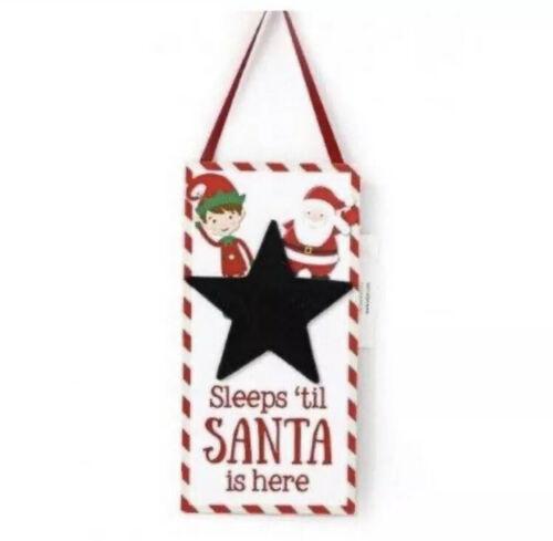 Santa /& Elf Countdown Chalkboard