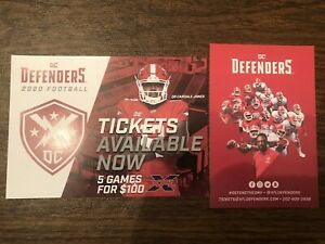 2020-DC-Defenders-XFL-Team-Football-Home-Schedule-amp-Ticket-Brochures