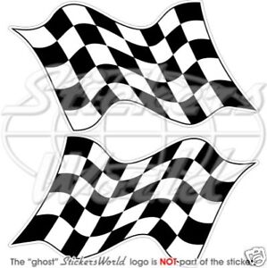 End-of-Race-Checkered-RACING-WIN-FLAG-125mm-5-034-Vinyl-Stickers-Decals-c2
