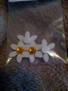 Scrapbook flower stickers 3D