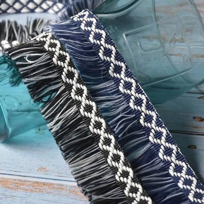 2//5 Yards Tassel Fringe Trim Dangle Lace Ribbon Garment Curtain DIY 1.57/'/' Width