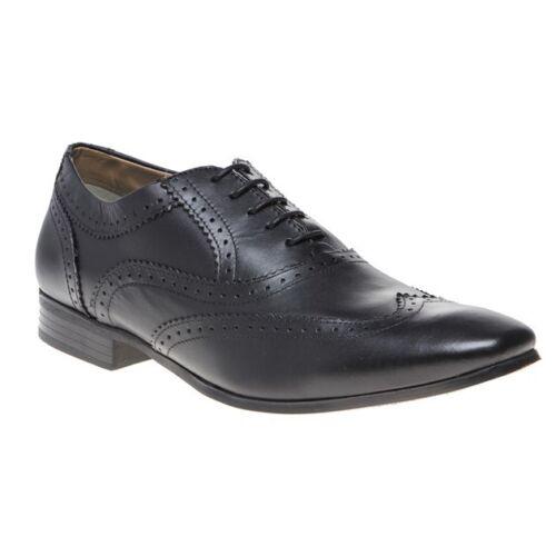 London London nero in Lace Up Nuove Brogue uomo pelle da fondo con scarpe qTRxzF08