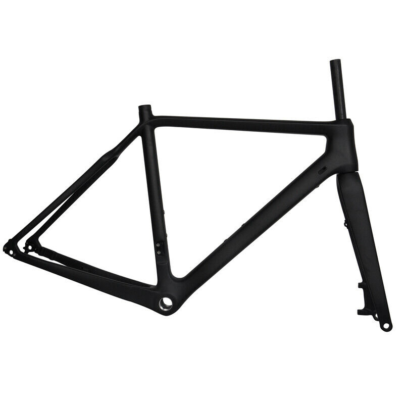 700C Carbon Cyclocross CX Gravel Bike Frames Disc Flat Mount Thru Axle BSA BB30