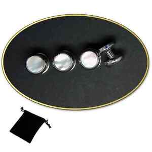 Silver-amp-Pearl-Dress-Shirt-Studs-Set-with-Pouch-4-or-6-Studs-644