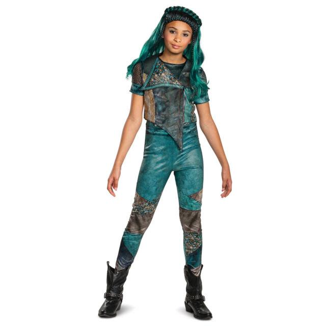 Disney Descendants 2 Mal Deluxe Isle Look Child Girls Licensed Costume SM-LG