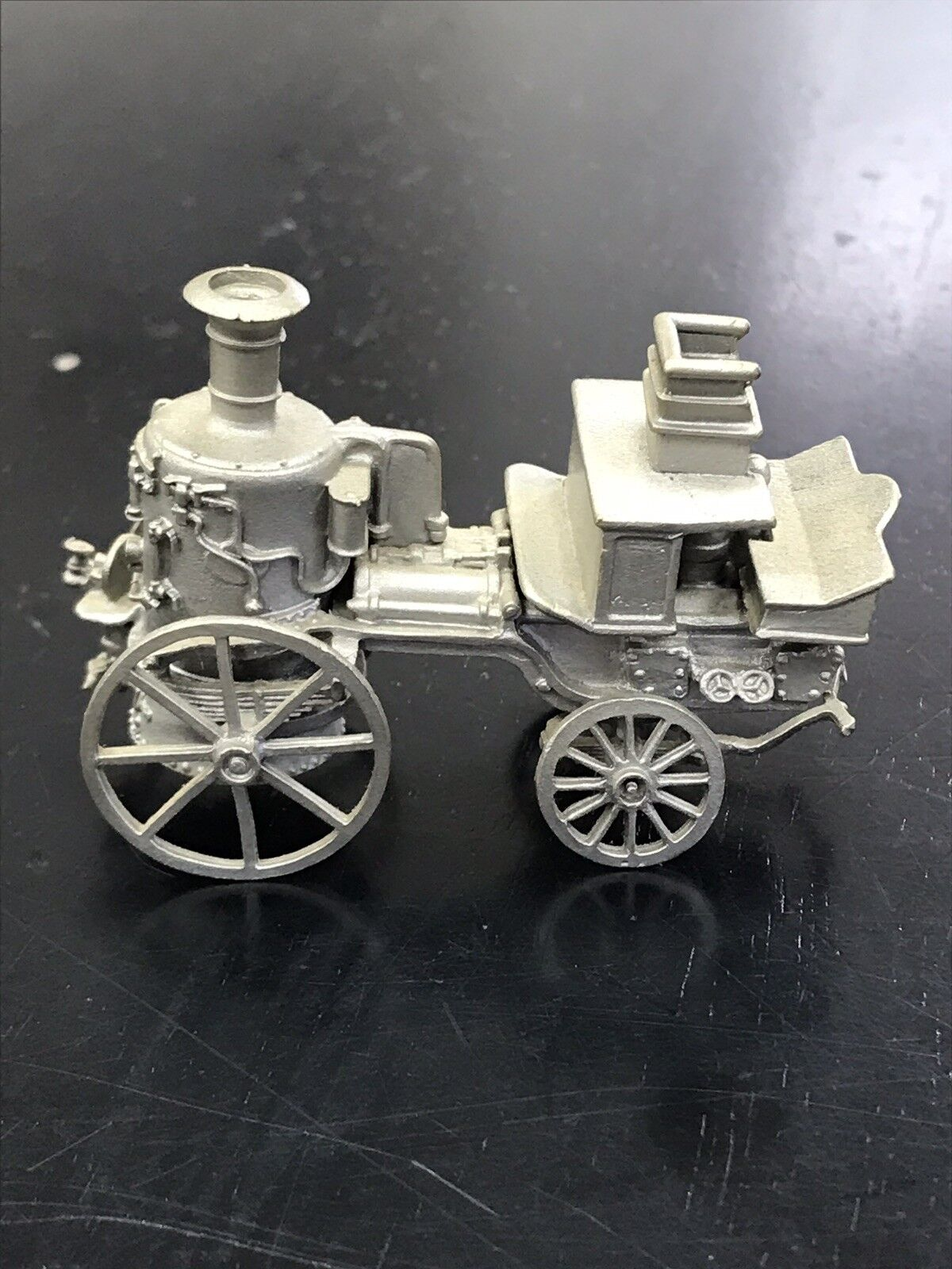 Franklin Mint Pewter Fire Engines of World Merryweather Horse-Drawn Sutherland