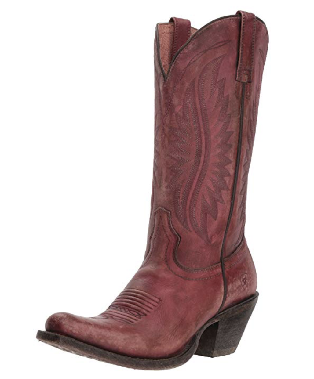 Ariat® Ladies Circuit Salem Western Cowboy Naturally Distressed Pink Boots Boots Boots 7 7d2907