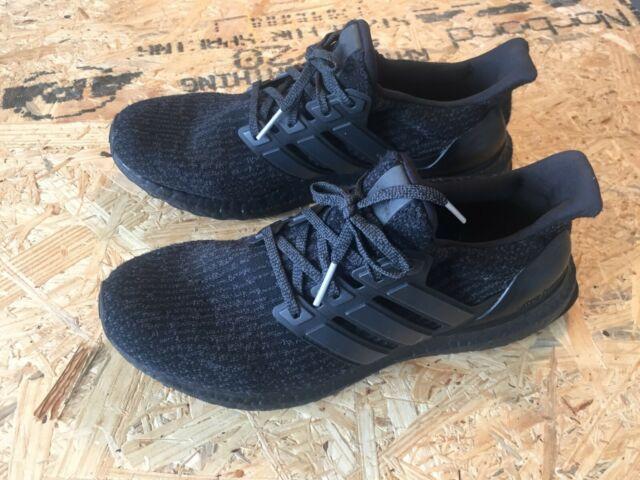 f2f6cdfff1e Adidas ultra boost 3.0 Triple Black BA8920 Men's Size 9 Running Shoes
