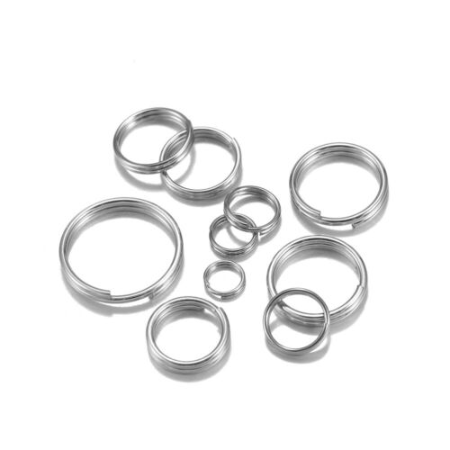 100Pcs Stainless Steel Open Jump Split Rings Double Loops for DIY Jewelry Making