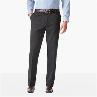 NEW MENS DOCKERS RELAXED COMFORT HEATHERED CHARCOAL PANTS 478740007 34 36 38 40
