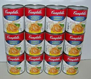 12-Larger-Cans-13-8-oz-ea-Campbell-039-s-Turkey-Gravy-Made-with-Real-Stock