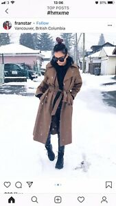 H Blogger m Brown Udsolgt Trench S Jacket Coat Small Bnwt Light ZYdqwHY