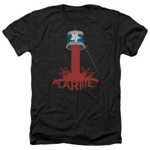 Carrie Movie BUCKET OF BLOOD Licensed Adult Heather T-Shirt All Sizes