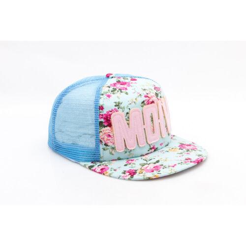 Kids Boys Girls Summer Floral Hiphop Flat Bill Snapback Cap Baseball Cap Trucker