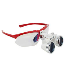 New Listingbest Dental Surgical Medical Binocular Red Loupes 25x320mm Optical Glass Loupe