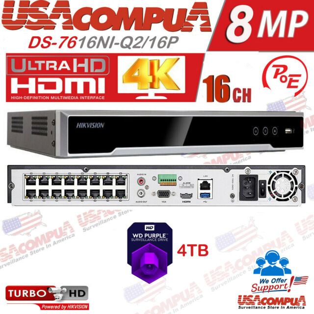 Dahua NVR4208-8P-4KS2 8 Channel 1U 8PoE 4K/&H.265 Lite Network Video Recorde