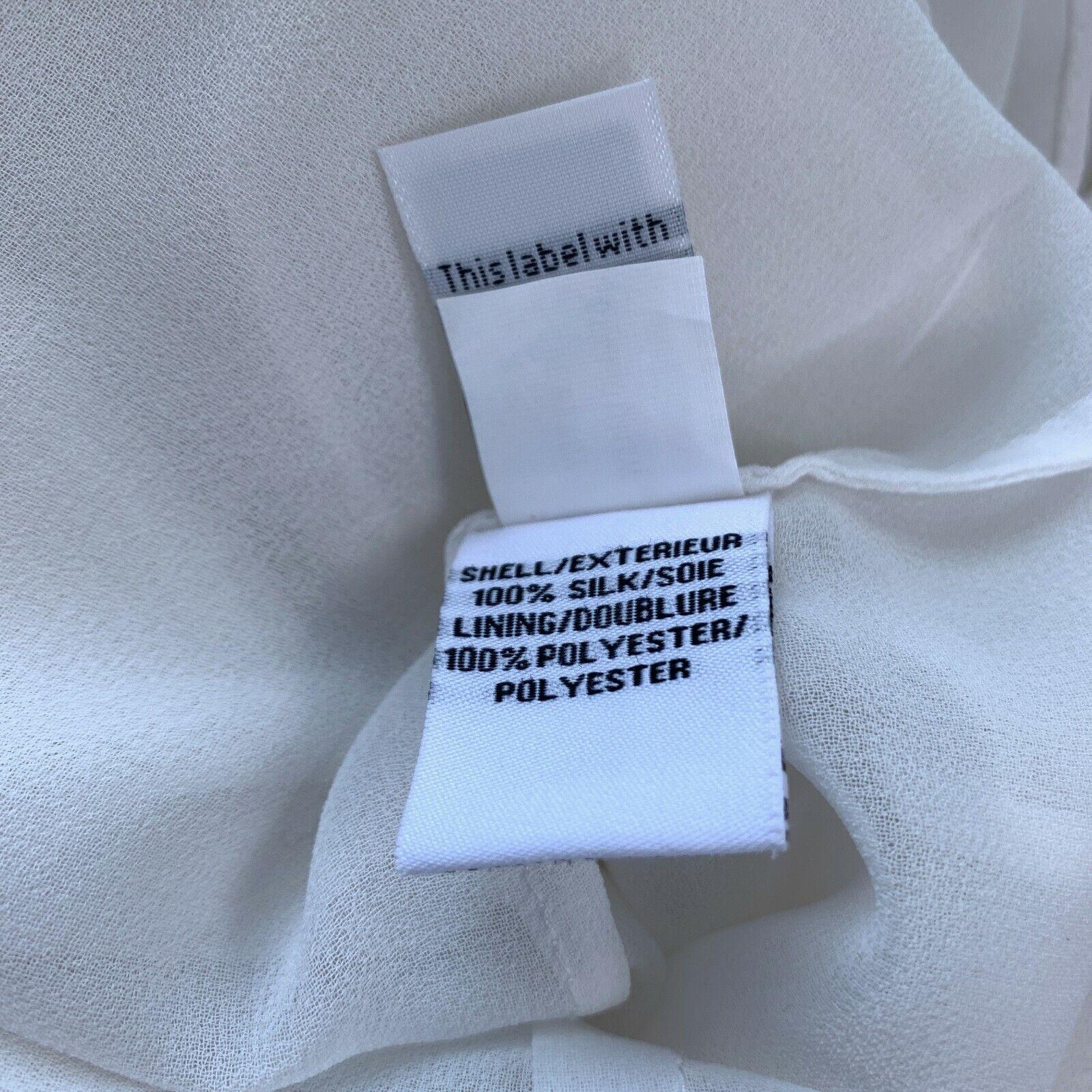 Diane Von Furstenburg Betsy Silk Tuxedo Blouse Bl… - image 8