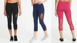 32b90a64b5 NWT Old Navy Go-Dry Mid-Rise Mesh-Panel Compression Crop Leggings ...