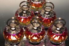MINT Swarovski Crystal Set of 6 Place Card Holders Volcano Color 7403 020 002