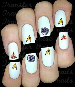 STAR-TREK-Stickers-ongles-autocollant-manucure-nail-art-water-decal