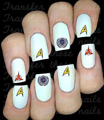 STAR TREK 30 Stickers ongles autocollant manucure nail art water décal