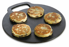 Kitchen Craft Cast Iron Baking Stone Welsh Cakes Pizza Crepe BBQ Hot plate 27cm
