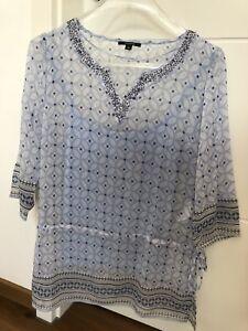 Neuankömmling Wert für Geld großer Diskontverkauf Details zu Comma Tunika Damen Frauen blau hellblau Größe 40 Set