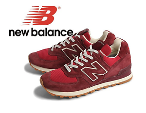 New Balance Classic 574 Red 10.5 Mens Sneakers 1403 Size 10.5 Red D 26856a