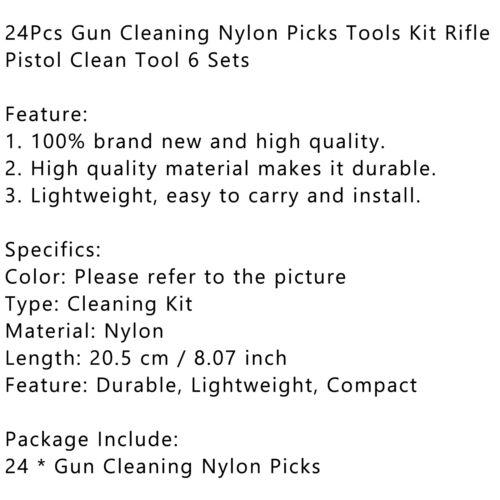 Waffenreinigungsset 24Pcs Nylon Picks Tools Rifle Pistol Clean Tool 6 Sets