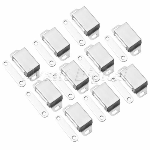 2//10pcs Door Catch Latch Stainless Steel Strong Magnetic Cabinet Cupboard Latch