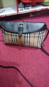 BURBERRY Small Leah Shoulder Bag/Clutch Horseferry check