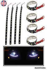 4X 12V 3W 5050 SMD 18 LED IP65 Waterproof Flexible Strip Lights Car Home 30cm UK