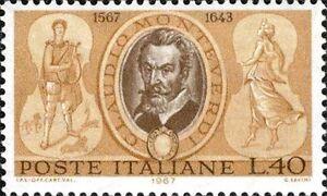 # ITALIA ITALY - 1967 - Claudio Monteverdi - Stamp MNH - Music Opera Composer - Italia - # ITALIA ITALY - 1967 - Claudio Monteverdi - Stamp MNH - Music Opera Composer - Italia