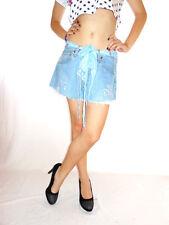 Womens Vtg LEVIS Distress Hot Pants Jeans Shorts Hand Custom High Waist W31 AG46