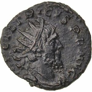 50-53 Tetricus I Au #64463 Antoninianus Smart Billon Cohen #170 2.60