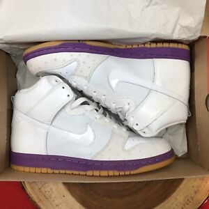 reputable site a0e20 87055 Image is loading Nike-Dunk-High-Deluxe-MITA-OSTRICH-WHITE-HYACINTH-