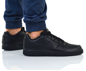 Details about New NIKE Ebernon Leather Mens Casual Athletic work shoes triple black all sizes