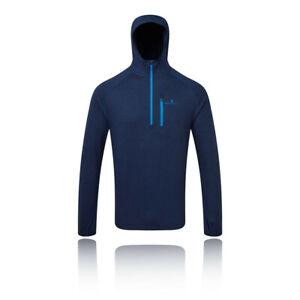 Ronhill-Homme-Momentum-Workout-Sweat-a-capuche-bleu-marine-Sports-Running-Respirant