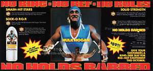 NO HOLDS BARRED__Original 1989 Trade AD / ADVERT__Hulk Hogan_Tommy 'Tiny' Lister