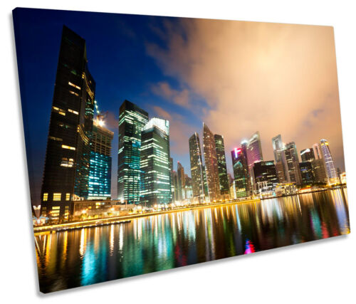 Singapore City Skyline SINGLE CANVAS WALL ART Print Picture