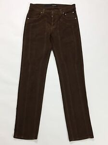 Jeckerson-pantalone-w30-44-fustagno-regular-slim-skinny-uomo-pants-marrone-T1419