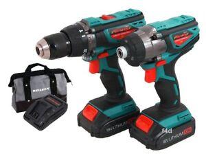 Image Is Loading 18v Li Ion Cordless Impact Hammer Drill Driver