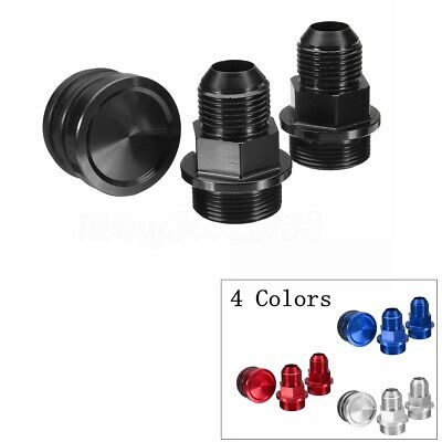 BLACK Rear Block Breather Plug /& Fittings For HONDA B16 CATCH CAN M28 TO 10AN