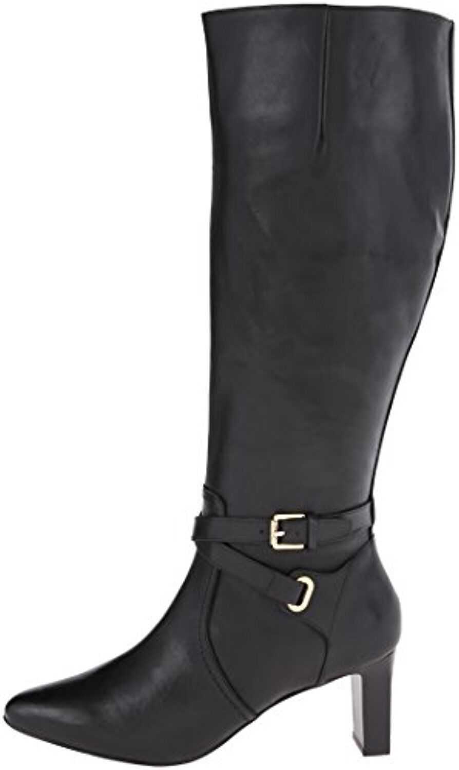Lauren Ralph Lauren Women's Nally Chelsea Burnished Calf Boot BLACK Size-5.5 B