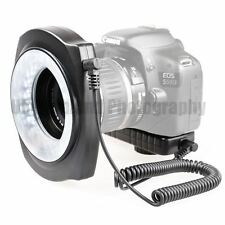 JJC LED Macro Ring Light with 6 Lens Adapter Ring 49mm/52mm/55mm/58mm/62mm/67mm