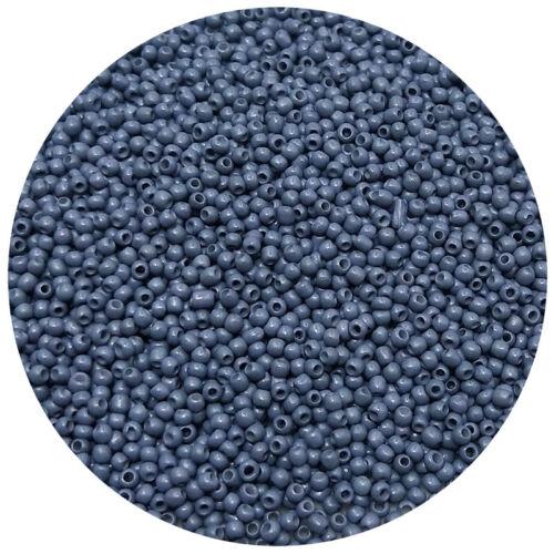 Lot de 2500pcs de bricolage 11//0 de rocaille 1.8 mm petite ronde en verre Perles de Rocaille grise