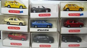 Wiking-1-87-vw-golf-Caddy-convertible-Variant-polo-vento-Passat-OVP-para-seleccionar