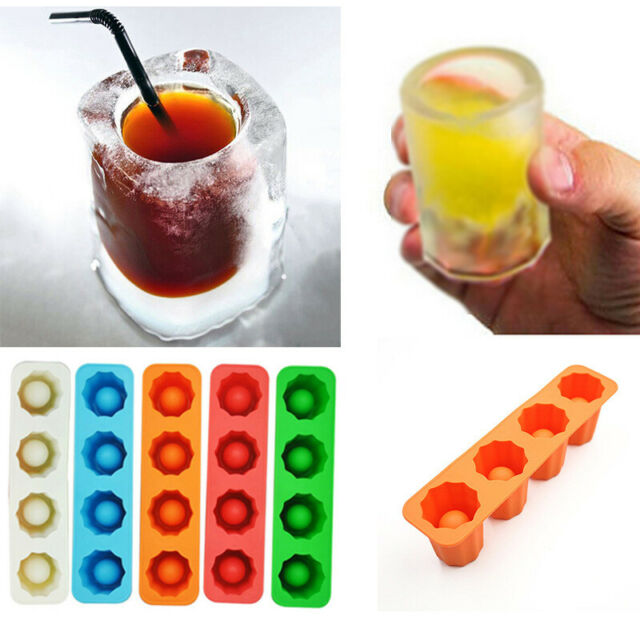 Ice Shot Glasses Mold Cocktail Ice Cube Tray Summer Drinking Tool for Whiskey Beverages