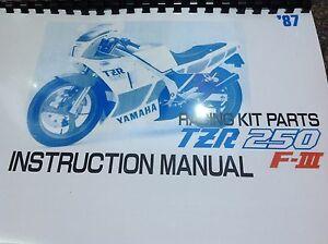 yamaha tzr 250 2ma factory racing kit manual hop up kit ebay rh ebay co uk yamaha tzr 250 service manual yamaha tzr 250 3ma manual